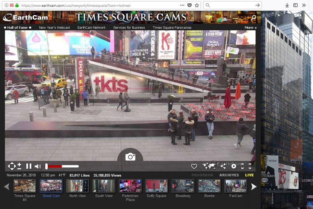webcam times square